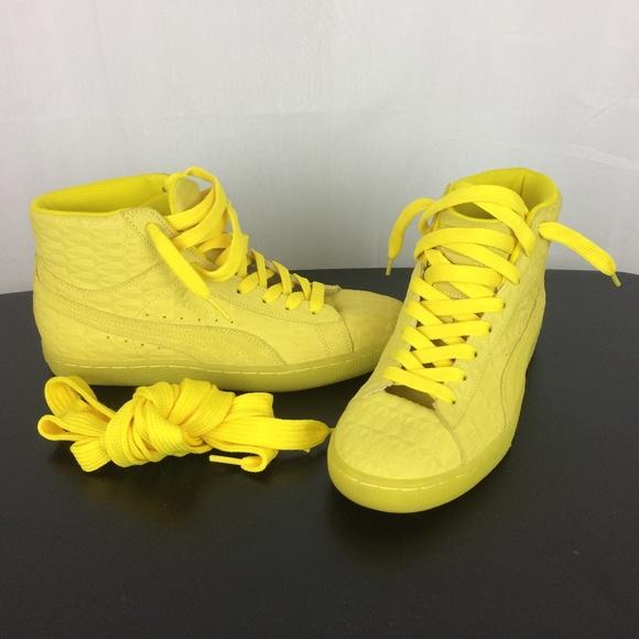 Puma Suede Yellow High Tops size 10.5 Womens. M 5ae7a86961ca1091a059f04c c844e5895